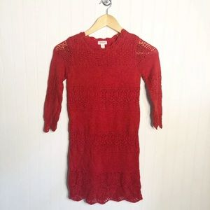 Cat & Jack Red Sweater Dress Size Large 10/12